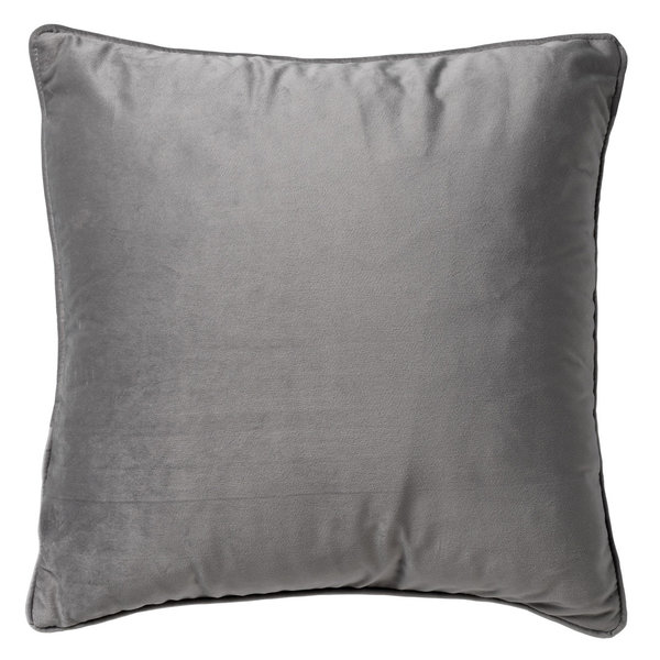 CUSHION FINN  - KISSEN MICRO CHIP - HELLGRAU -  60/60cm BY DUTCH DECOR