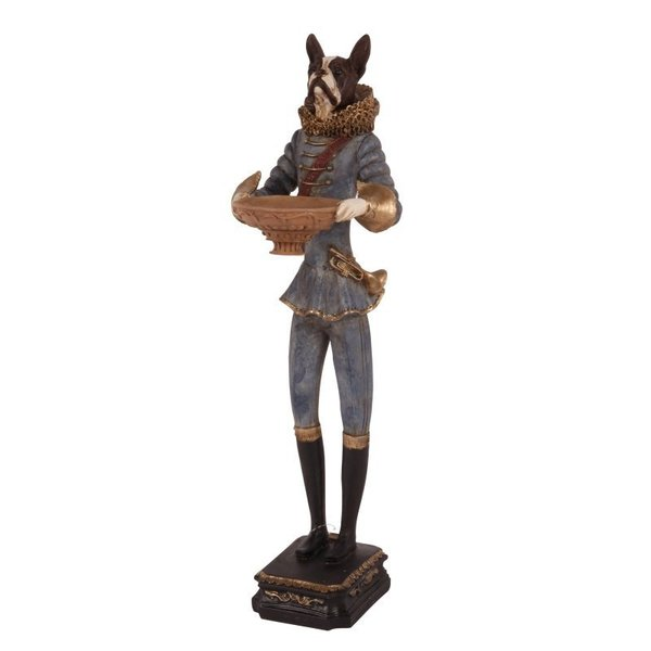 STATUE HUND BLAU - 50CM  BY DUTCH STYLE