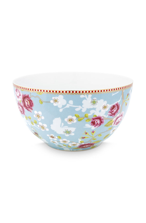 BOWL - SCHALE - CHINESE ROSE BLUE  - 18 CM  -  BY PIP STUDIO