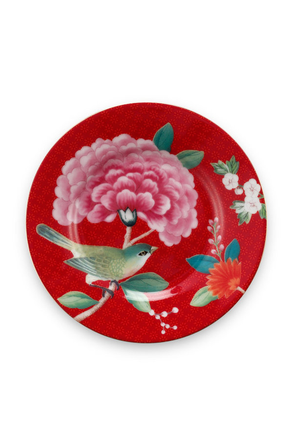 PETIT FOUR - KLEINER TELLER - BLUSHING BIRDS RED 12CM  -  BY PIP STUDIO