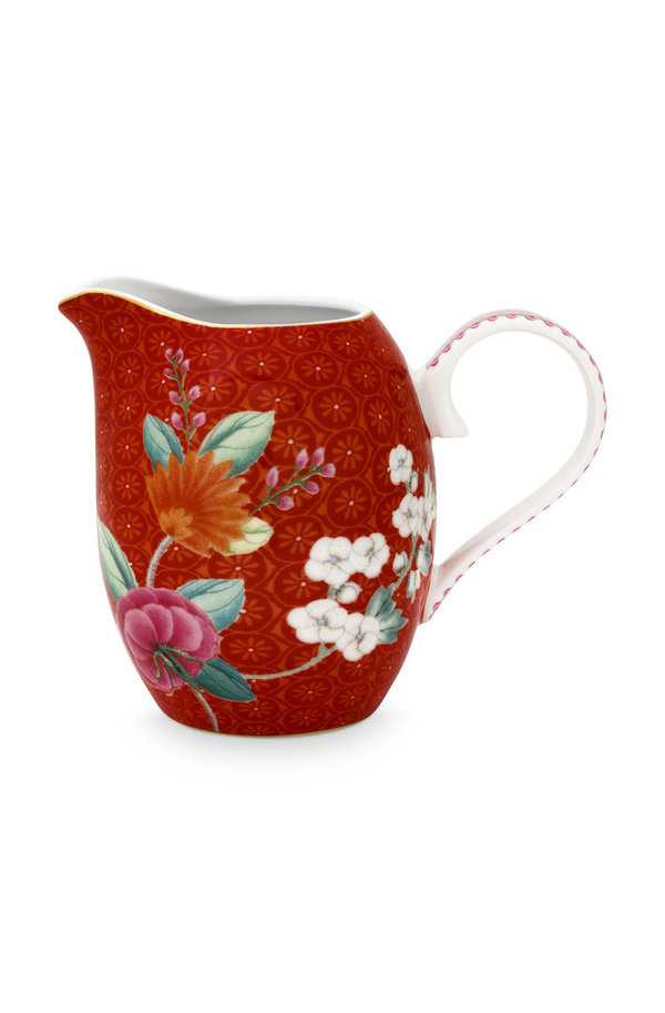 JUG SMALL - MILCHKÄNNCHEN - BLUSHING BIRDS RED 250ML  -  BY PIP STUDIO