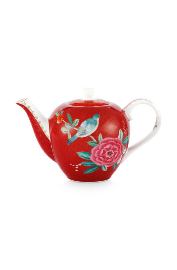 TEA POT SMALL - TEEKANNE - BLUSHING BIRDS RED 750ML - BY PIP STUDIO