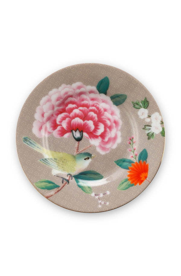 PETIT FOUR - TELLER - BLUSHING BIRDS KHAKI12CM  -  BY PIP STUDIO