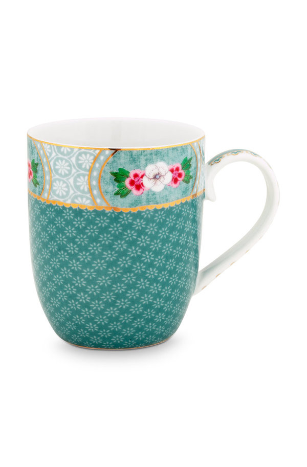 MUG SMALL - KLEINE TASSE - BLUSHING BIRDS BLUE 145ML  - BY PIP STUDIO