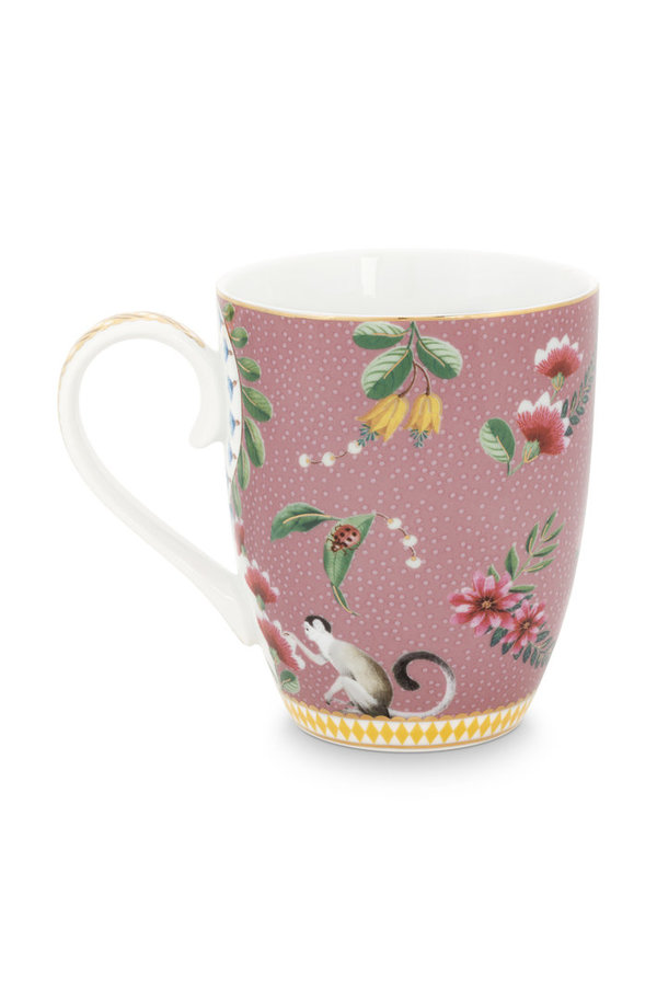MUG LARGE - GROSSER BECHER - MUG LARGE LA MAJORELLE PINK 350ML  - BY PIP STUDIO