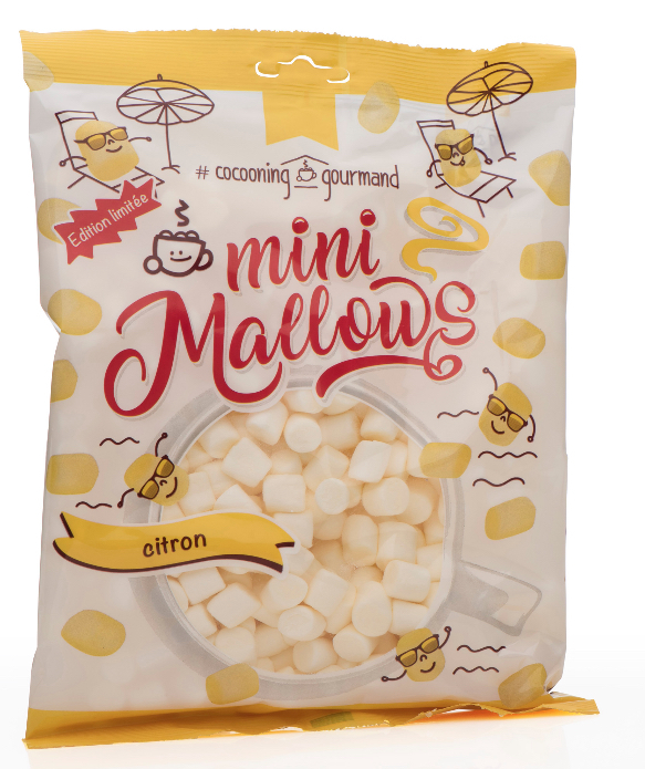 MINIMALLOW LEMON 150 GR.  - MINI MARSHMALLOWS ZITRONE - BY COCOONING GOURMAND