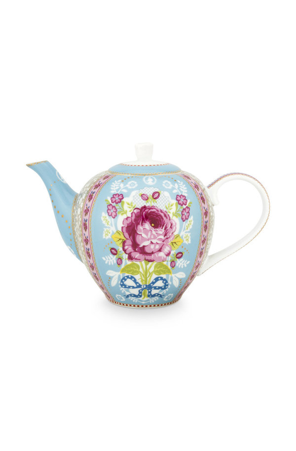 TEA POT BLUE  - TEEKANNE - BLAU - 1.6 LTR  -  BY PIP STUDIO