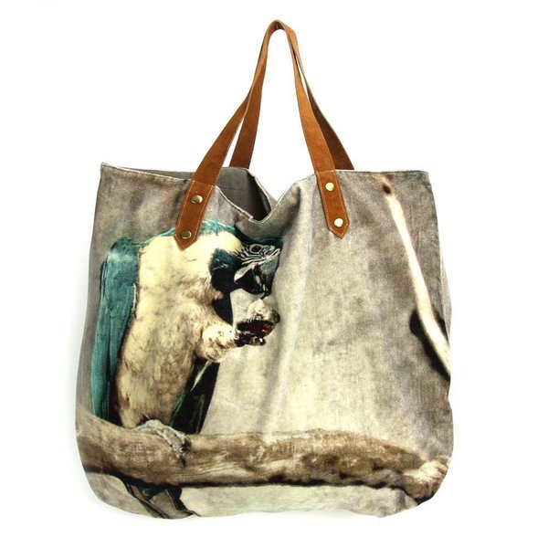 SHOPPER - TASCHE - PARROT -PAPAGEI - 52/55cm BY IMBARRO