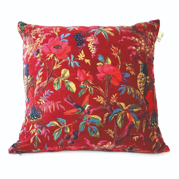 CUSHION - KISSEN - 60/60CM -  PARADISE XL RED - ROT - BY IMBARRO