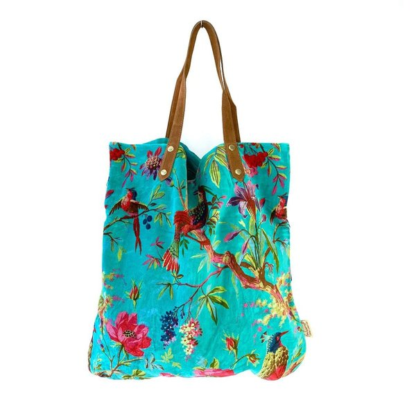 NEU! SHOPPER - TASCHE - PARADISE LARGE TURQUISE - TÜRKIS  - 52/55cm BY IMBARRO