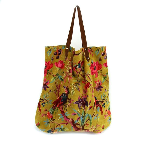 SHOPPER - TASCHE - PARADISE LARGE OCRE - OCKER - 52/55cm BY IMBARRO