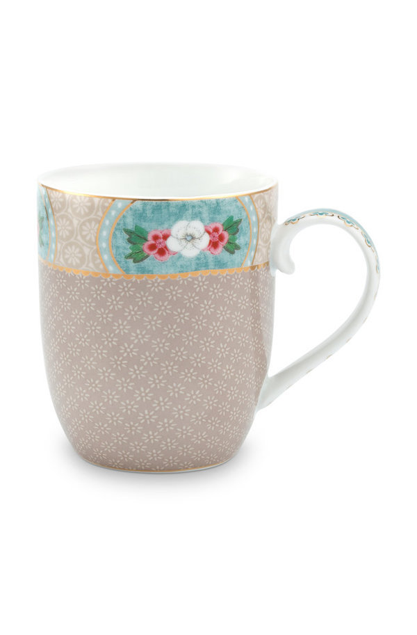 MUG SMALL - KLEINE TASSE - BLUSHING BIRDS KHAKI 145ML  - BY PIP STUDIO