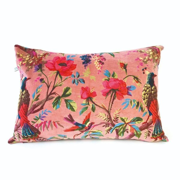 CUSHION - KISSEN - 60/40CM -  PARADISE OLD PINK- ALT ROSA - BY IMBARRO