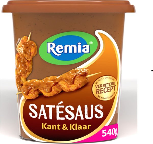 SATÉSAUS -KANT & KLAAR /ERDNUSS - SOSSE - 540 ML - BY REMIA