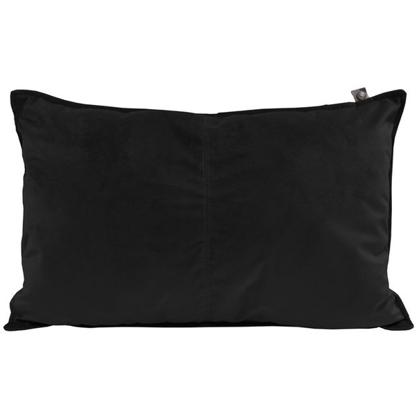 OS PILLOW VELOURS MIDDLESTITCH 60x40 cm -  VELOURS KISSEN SCHWARZ - BY OVERSEAS