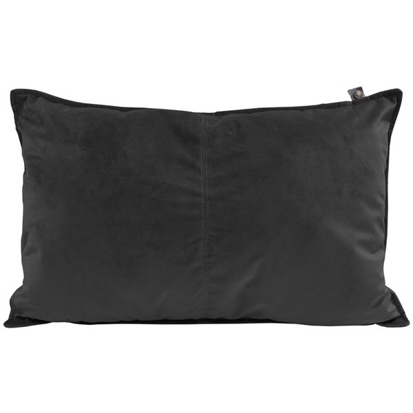OS PILLOW VELOURS MIDDLESTITCH 60x40 cm -  VELOURS KISSEN ANTHRAZIT - BY OVERSEAS