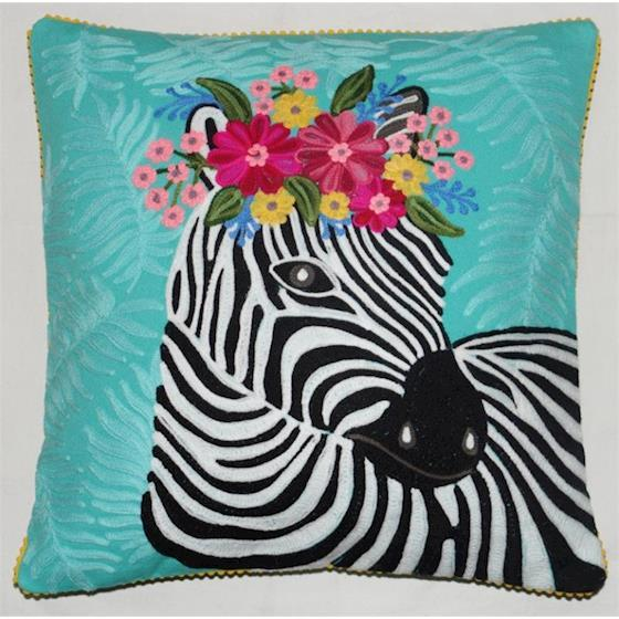 CUSHION - KISSEN - 45/45CM -  ZEBRA - BY ONLY NATURAL