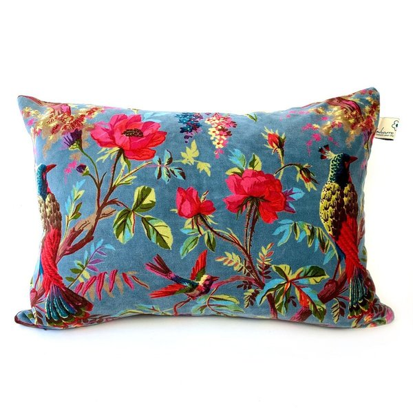 CUSHION - KISSEN - 60/40CM -  PARADISE PETROL - BY IMBARRO