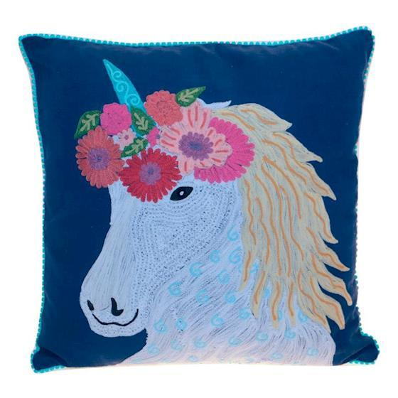 CUSHION - KISSEN - 45/45CM -  EINHORN - BY ONLY NATURAL