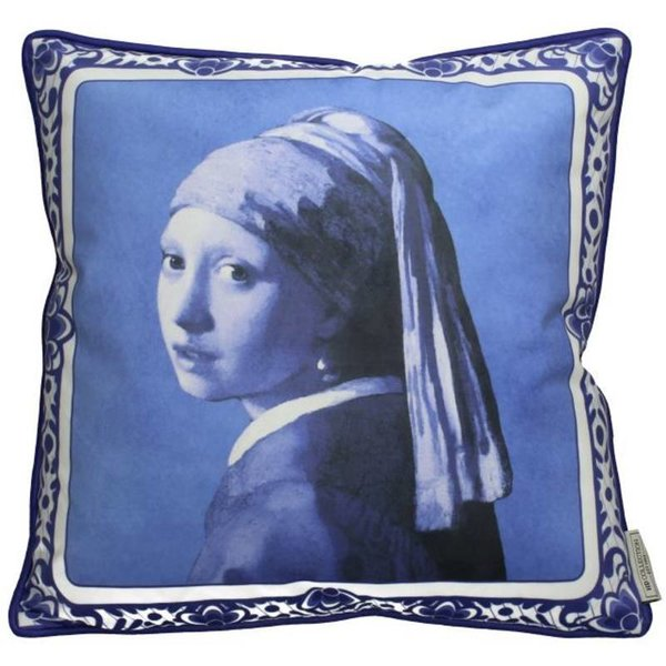 CUSHION LADY PEARL BLUE 8x45x45CM BY KERSTEN