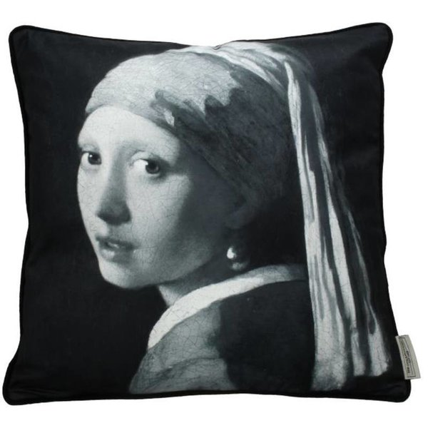 CUSHION LADY PEARL GREY 8x45x45CM BY KERSTEN