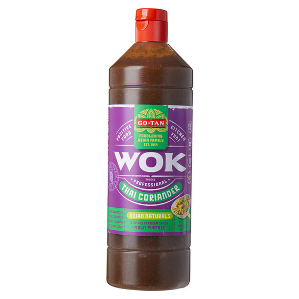 THAI KORIANDER ASIAN NATURALS - WOK SAUCE - 1 LITER - BY GO - TAN