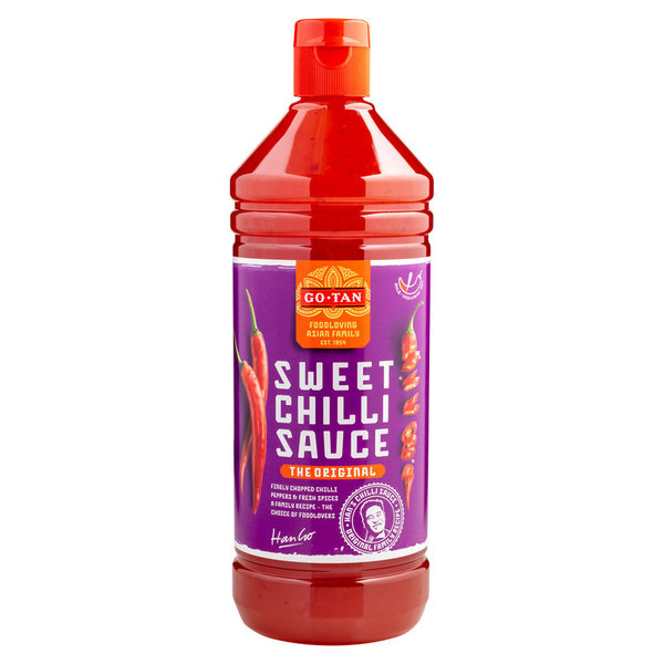 ORIGINAL SWEET CHILLI SAUCE - SÜSSE CHILLI SAUCE - 1 LITER - BY GO - TAN